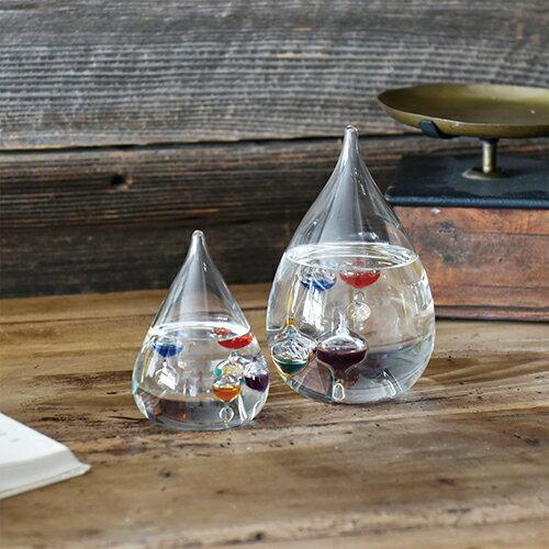 ガリレオ温度計 サイエンス 科学 ガリレオ】【Fun Science】ガラスフロート温度計 しずくS 333-203【20P03Dec16】【HLS_DU ギフト】【温度計 インテリア ガラス おしゃれ 浮き球 しずく】
