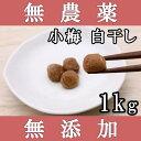 梅干し 無添加 無農薬 小梅 白干し 1kg 熊野のご褒美 無化学肥料 紀州産 梅干 ご自宅用にもお歳暮などのギフト・贈り…