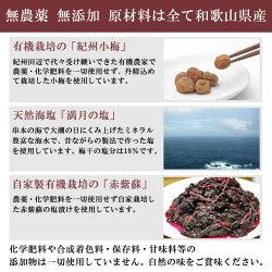 無添加熊野のご褒美小梅白干し1kg無化学肥料無農薬
