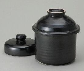 黒釉一夜漬鉢 (山蓋)陶器 信楽焼彩り屋 お急ぎ