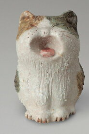 あくび猫信楽焼 陶器 置物 猫彩り屋