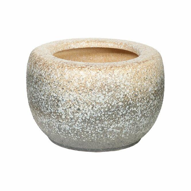 白砂火鉢 13号信楽焼 伝統の火鉢 白砂 陶器 彩り屋