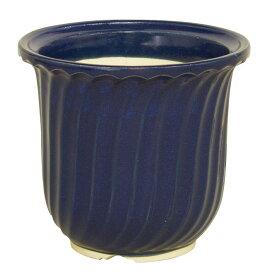 生子ストライプ大深 7号信楽焼 植木鉢 ガーデニング 陶器鉢 園芸 山野草鉢彩り屋 お急ぎ