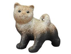 ふりむき信楽焼陶器置物犬