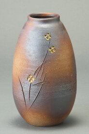 火色小花 花瓶 信楽焼 陶器 花入れ 花器 花入 花瓶彩り屋