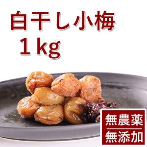 梅干し 無添加 無農薬 小梅 白干し 1kg 熊野のご褒美 無化学肥料 紀州産 梅干 ご自宅用にもお歳暮などのギフト 贈り物にもおすすめです。送料無料あす楽彩り屋