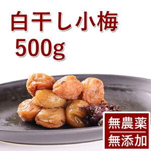 梅干し 無添加 無農薬 小梅 白干し 500g 熊野のご褒美 無化学肥料 紀州産 梅干 ご自宅用にもお歳暮などのギフト 贈り物にもおすすめです。送料無料彩り屋 お急ぎ