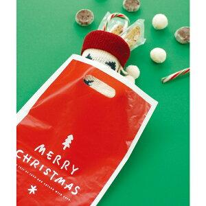 クリスマス ラッピング袋 シンプルクリスマス 手提げ袋 手提げバッグ クリスマスラッピングバッグ ポリ袋 ビニールバッグ ビニール袋 クリスマスラッピング クリスマス ラッピング袋 ラ