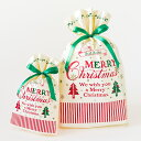 クリスマスラッピング用袋 クリスマスラッピング袋 クリスマスラッピングバッグ クラシカルクリスマスリボン付 ポリ袋…