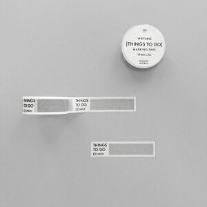 【KNOOPWORKS/クノープワークス】003 THINGS TO DO mini マスキングテープ 15mm幅 todo テープ マステ maskingtape Masking tape washitape シール テープ stationery 書けるマスキングテープ スケジュール 管理 保管