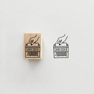 【KNOOPWORKS/クノープワークス】〈SHREDDER〉スタンプ シュレッダー 裁断 裁断機 スタンプ ミニスタンプ Stamp はんこ ハンコ ラッピング コラージュ スクラップ 手紙 便箋 封筒 カード 紙 タグ 日