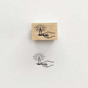 【KNOOPWORKS/クノープワークス】 CANDLE ろうそく スタンプ Stamp はんこ ハンコ 印鑑 印 ゴム印 ラッピング コラージュ ラッピング用品 手紙 便箋 封筒 メッセージカード カード ポストカード は