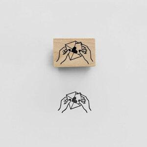 【KNOOPWORKS/クノープワークス】LOVE LETTER スタンプ LOVELETTER ラブレター 愛 ハート Stamp はんこ ハンコ 印鑑 印 ゴム印 ミニスタンプ メッセージスタンプ ラッピング コラージュ 手紙 便箋 封筒