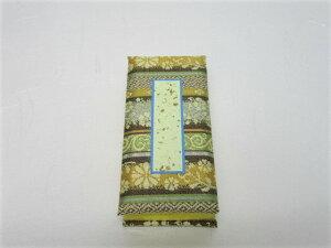 仏具 モダン 過去帳 金襴高倉錦 日付入 3.5寸