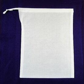 納骨袋 白 巾着 綿