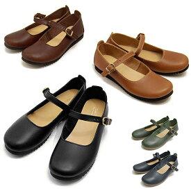 クレドラン CLEDRAN オイルレザーシューズナロウ NARROW ストラップシューズ レディース CL-1430 靴