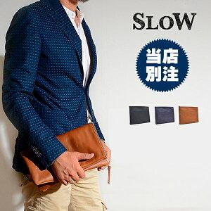 スロウ[SLOW]2wayクラッチバッグメンズ本革A4レザーセカンドバッグビジネスバッグ