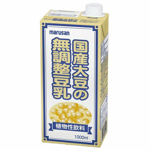 国産大豆の無調整豆乳 1000ml マルサン