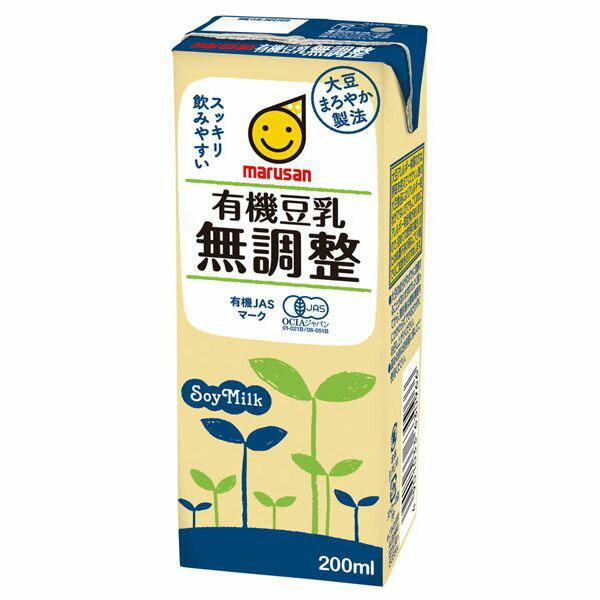 有機豆乳無調整 200ml マルサンアイ