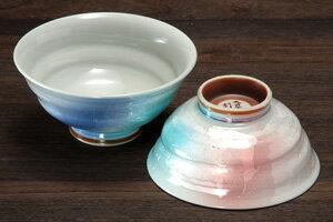 夫婦茶碗極上銀彩九谷焼和食器【組飯碗】日展作家北村利夫作