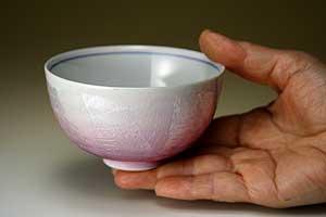 夫婦茶碗色銀彩九谷焼和食器【組飯碗】