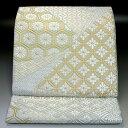 西陣河合美術織物 袋帯 有職裂取文