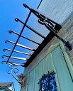 「玄関キャノピー アルミ製」 ひさし 屋根 頑丈 シェード 専用ビス付き 庇 玄関 キャノピー 後付けDIY アルミ製 屋根 バルコニー 勝手…