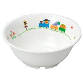 【見積作成いたします】 お子様・幼児用・メラミン食器 日本製 ぽっぽらんど 15.5cm ボール 【アイボリー】 M-619PL  [5個以上でご注文ください。]