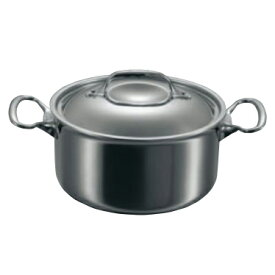 フランス製 IH対応 7層鋼 シチューパン 蓋付き 28cm デバイヤー両手鍋(ステンレス+アルミ)