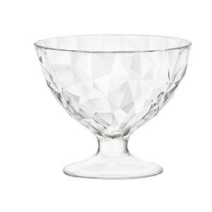 イタリア製 ボルミオリ・ロッコ アイスクリーム デザートカップ ダイアモンド 220cc  12客組  [スイーツグラス・ガラス・ジェラート・ムース・食器]