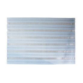 【メール便】プレースマット ライトブルー 汚れがつきにくい [ランチョンマット 透ける素材 メッシュ パステルカラー 水色]