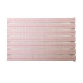 【メール便】プレースマット ピンク 汚れがつきにくい [ランチョンマット 透ける素材 メッシュ パステルカラー パステルピンク]