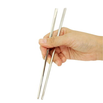 Made in Japan Korean chopsticks, chopsticks Korea, チョッカラ stainless steel chopsticks (plain and flat)