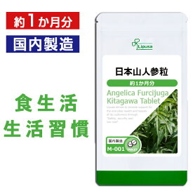 【15%ポイントバック】日本山人参粒 約1か月分 M-001 送料無料 リプサ Lipusa サプリ サプリメント ビタミン ミネラル