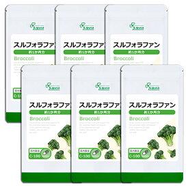 【SALE20%OFF】 スルフォラファン 約1か月分×6袋 C-100-6 送料無料 リプサ Lipusa サプリ サプリメント