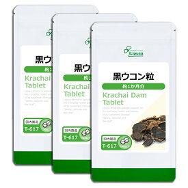 【15%ポイントバック】黒ウコン粒 約1か月分×3袋 T-617-3 送料無料 リプサ Lipusa サプリ サプリメント クラチャイダム