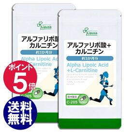 【ポイント5倍】アルファリポ酸+カルニチン 約3か月分×2袋 C-205-2 送料無料 リプサ Lipusa サプリ サプリメント アミノ酸 ダイエット 美容