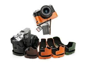 TP Original Canon EOS M6 Mark ii M2 専用 ブルタイプ 本革 ボディケース 底面開閉 (電池, SDカード交換可)