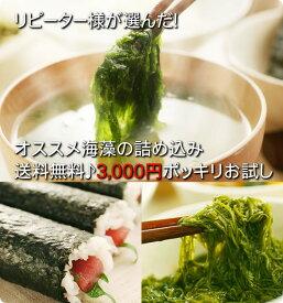 リピーター様が選んだオススメ海藻を詰め込みポッキリ3000円お試しセット送料無料