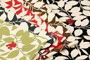 50cm単位 生地 布 綿 小林繊維 コットンこばやし ツイル 木の実と花柄 [在庫共有品] KSP-5541
