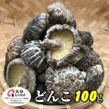 大分産干し椎茸どんこ100g送料無料原木栽培(国産干ししいたけ干しシイタケ)