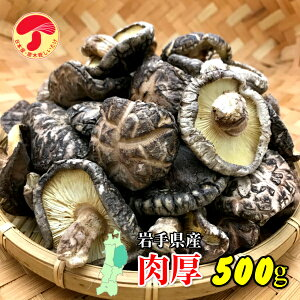 干し椎茸 岩手県産 肉厚 500g(国産 干しシイタケ 干ししいたけ 乾しいたけ 乾燥シイタケ 乾燥椎茸 原木)