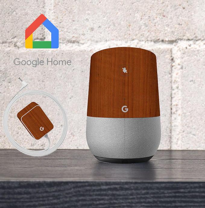 【即納】Google Home インテリアに合わせ外観を美しく上品に!【Google Home ウッド調プレミアムスキンシール】【チーク】