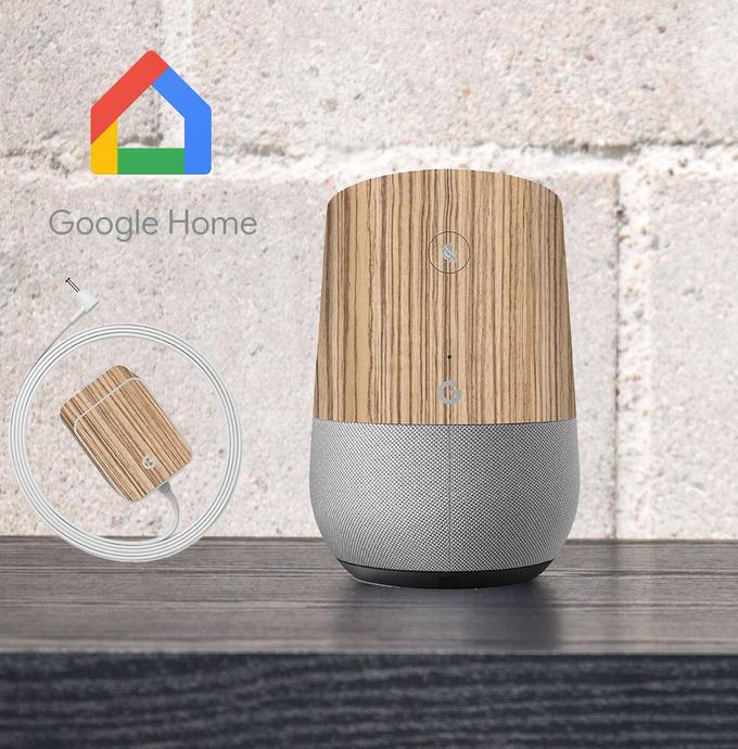 【即納】Google Home インテリアに合わせ外観を美しく上品に!【Google Home ウッド調プレミアムスキンシール】【ゼブラ】