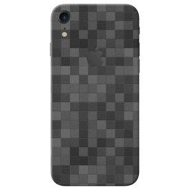 【ネコポス送料無料】【即納】iPhone XR ケースより外観を美しく上品に!【iPhone XR モザイク調プレミアムスキンシール】【モザイクブラック】