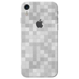 【即納】iPhone XR ケースより外観を美しく上品に!【iPhone XR モザイク調プレミアムスキンシール】【モザイクホワイト】