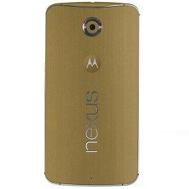Google Nexus6 ケースより外観を美しく上品に!【Google Nexus6 プレミアムスキンシール メタルタイプ】【ブラッシュドゴールド】【Y!mobile/ワイモバイル】【RCP】【10P23Apr16】