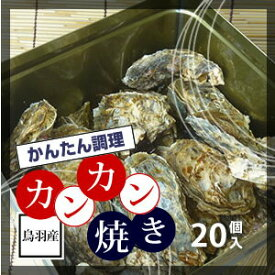 牡蠣のカンカン焼き 「桃こまち」 20個 軍手 ナイフ付 [牡蠣]