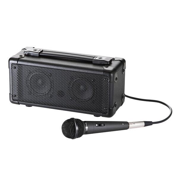 【送料無料】 SANWA SUPPLY(サンワサプライ) マイク付き拡声器スピーカー(Bluetooth対応) MM-SPAMPBTスマホ タブレット 音楽再生 Bluetooth ワイヤレス 有線マイク 電池対応 録音 アンプ一体型 三脚 オールインワン 会議 セミナー 講義 音量調節 屋外 持ち運び