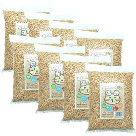 【対象エリア翌日配送可】 【土日も出荷】 猫砂 木質ペレット 小分け 2kg(3.2L)×8袋 崩れるタイプ ラベルあり